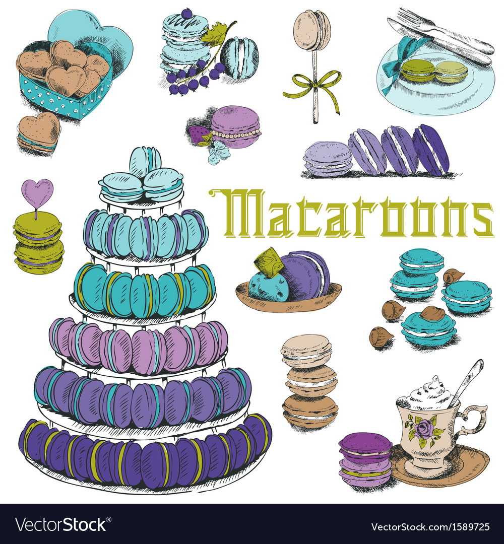 Macaroons and and dessert collection