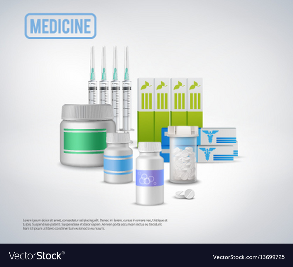 Realistic medical supplies background