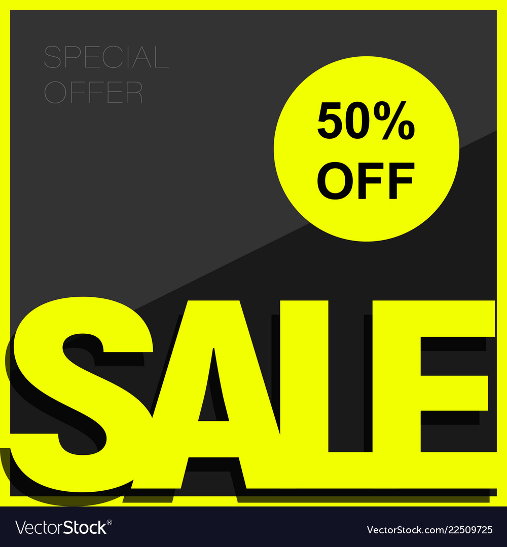 Sale poster or flyer template design 50 off