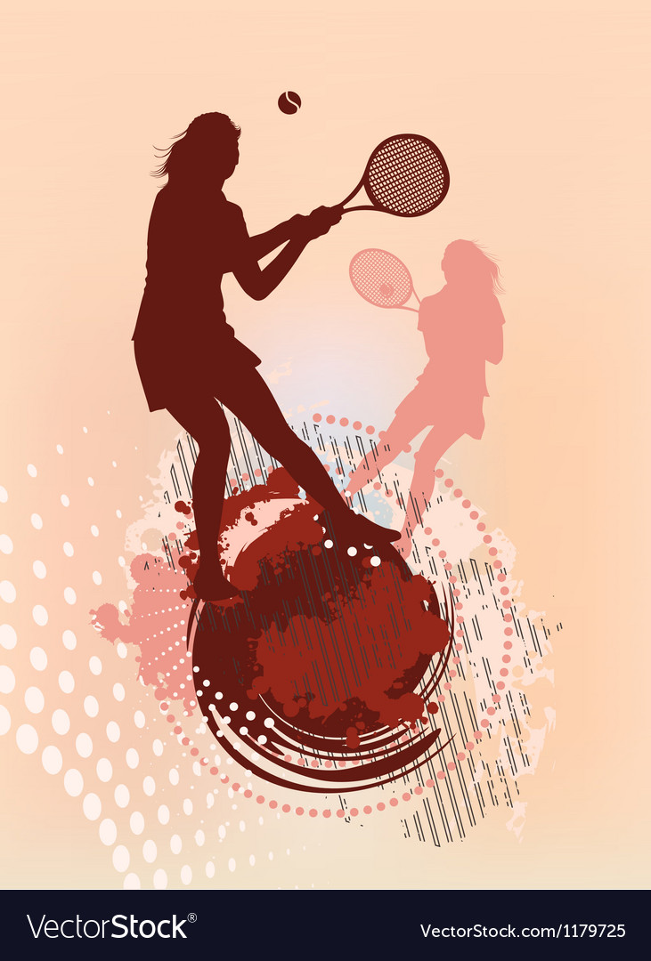 Tennis girl silhouette