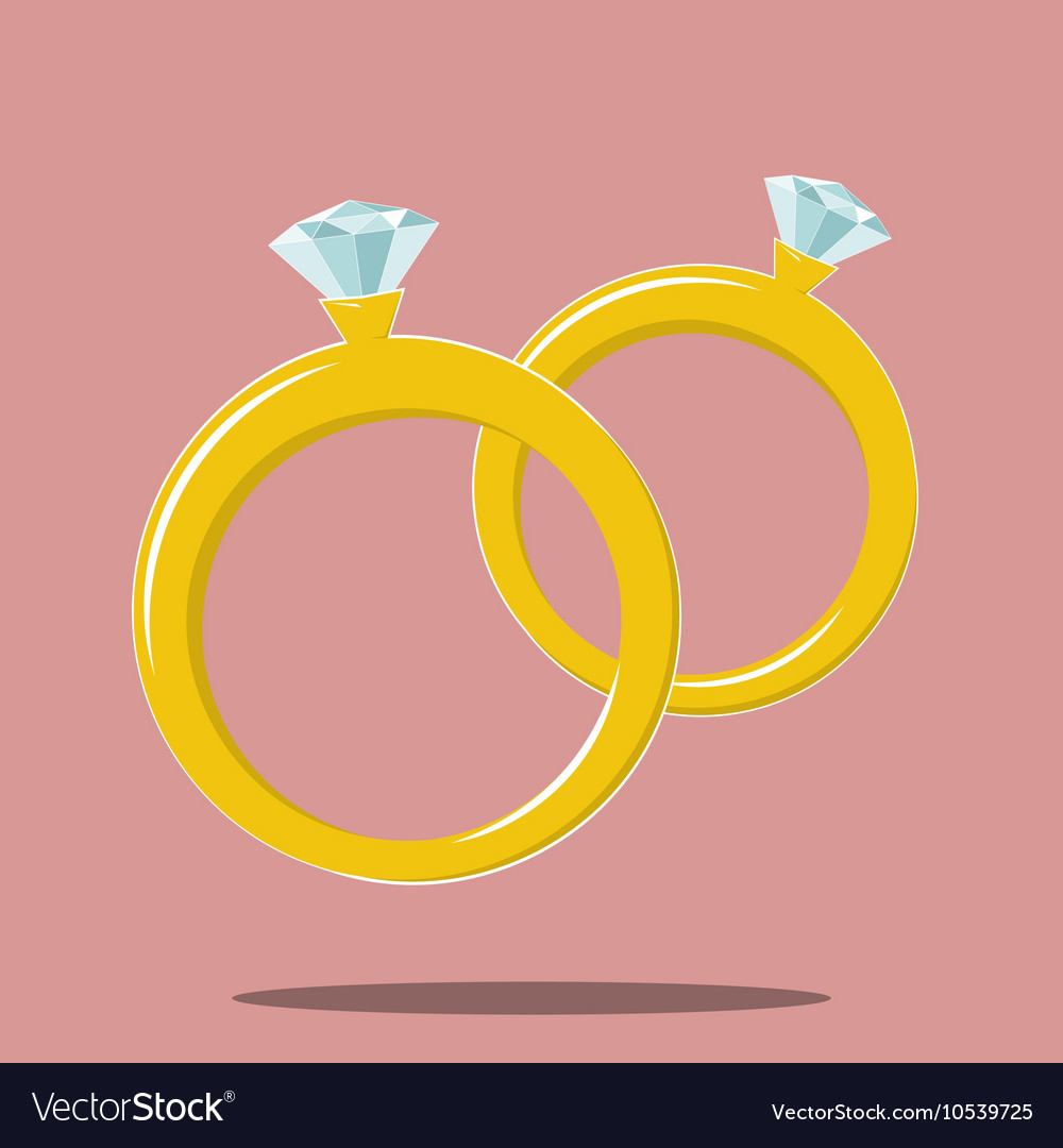 Two Rings Marriage Symbol Royalty Free Vector Image