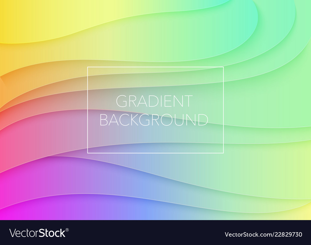 Abstract volumetric 3d gradient color paper cuted