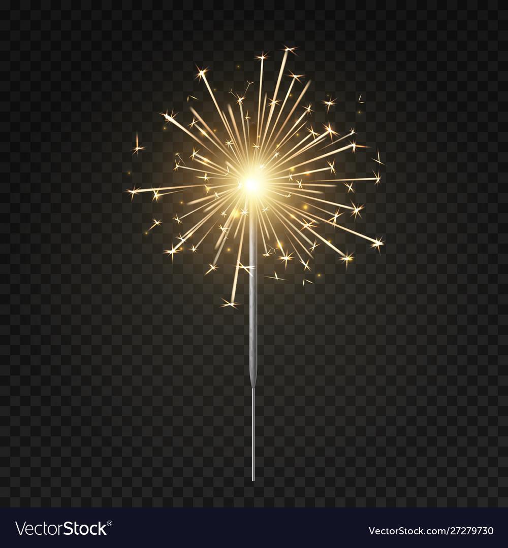 Bengal light burning sparkler