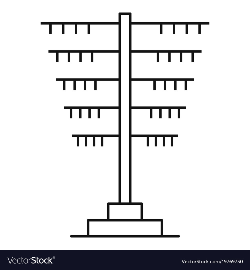 Connection pole icon outline style vector image