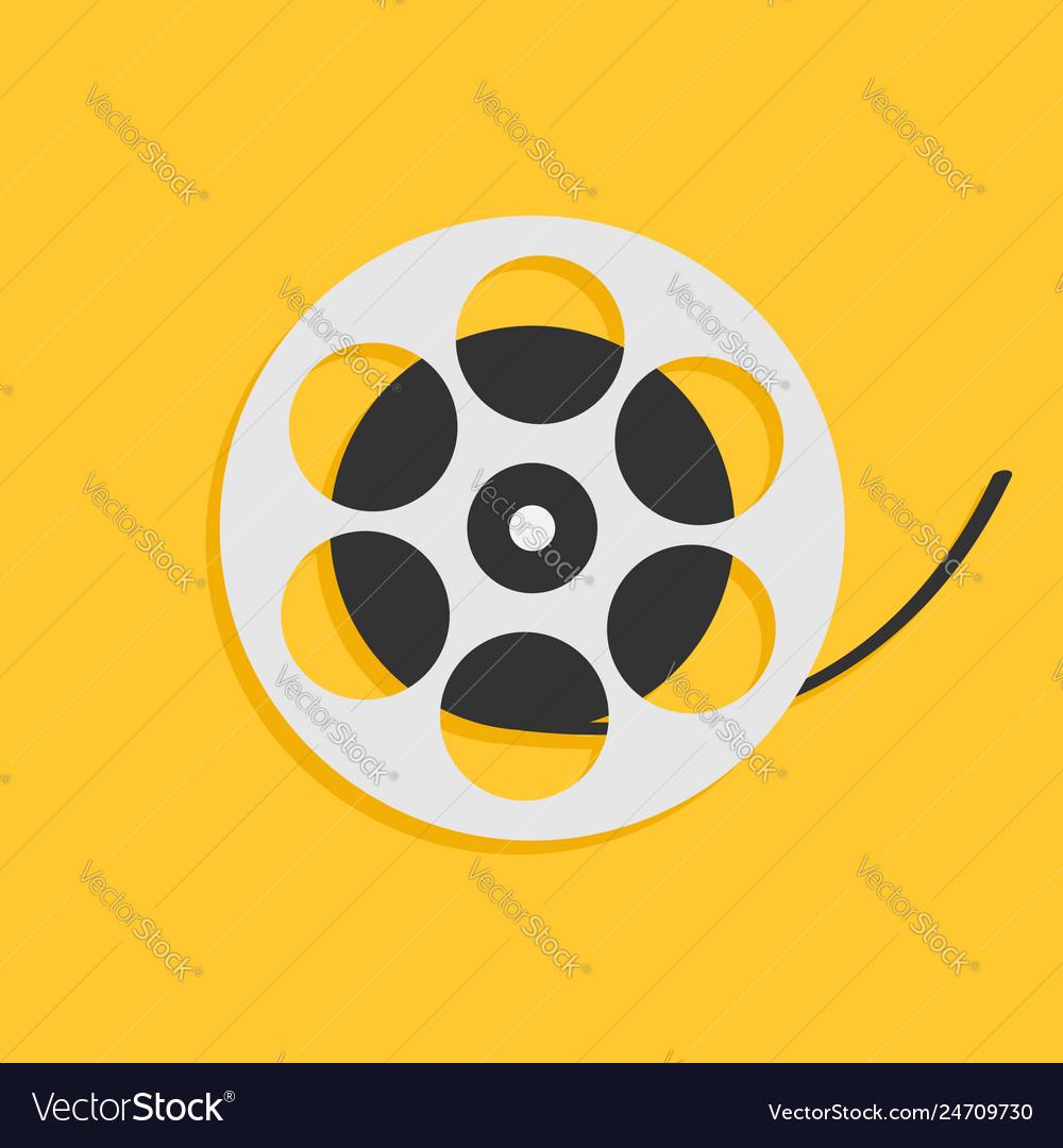 Film movie reel i love cinema icon flat design