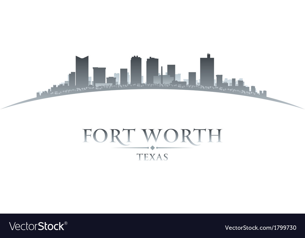 Fort Worth Texas city skyline silhouette