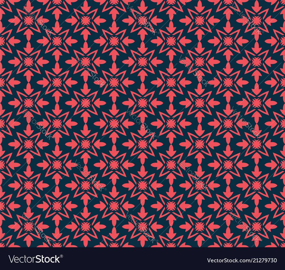 Geometric flower floral seamless pattern