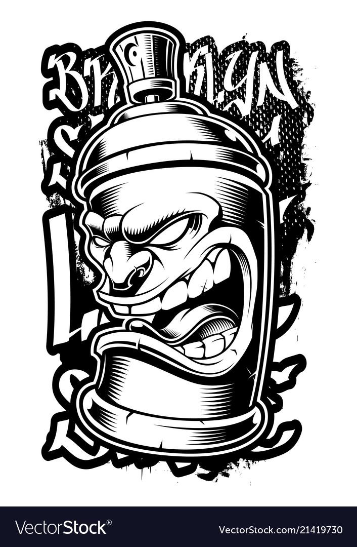 graffiti spray can royalty free vector image vectorstock