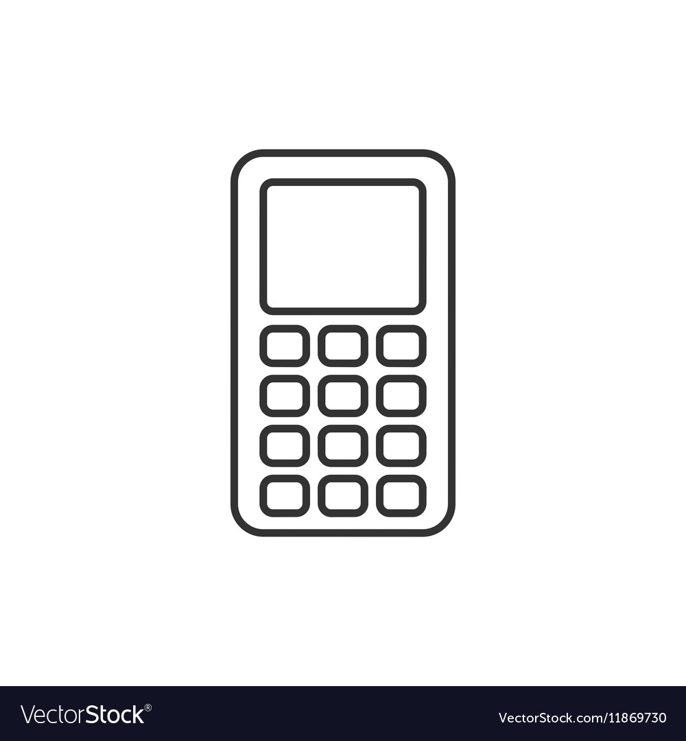 Mobile phone thin line icon