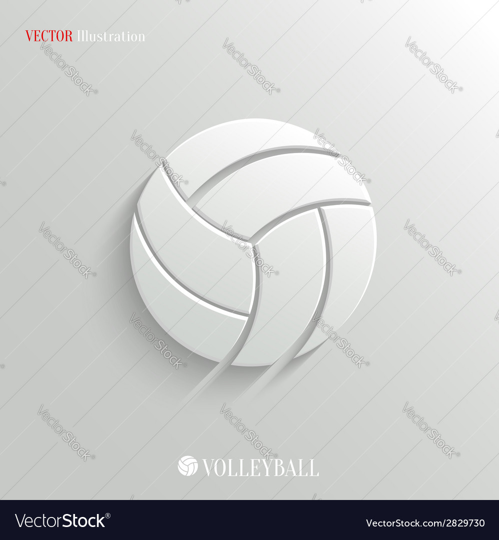 Volleyball icon - white app button