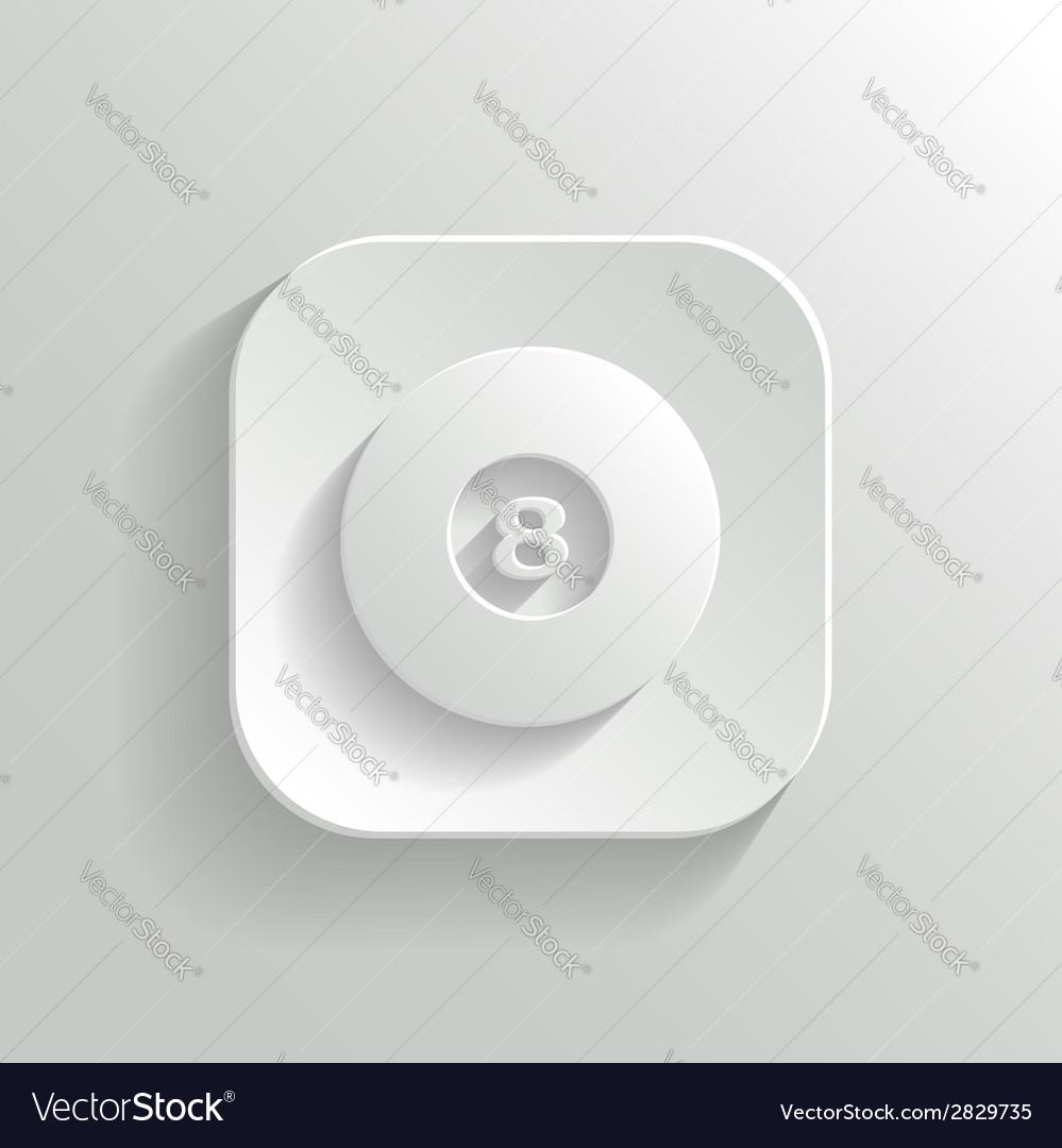 Billiard icon - white app button