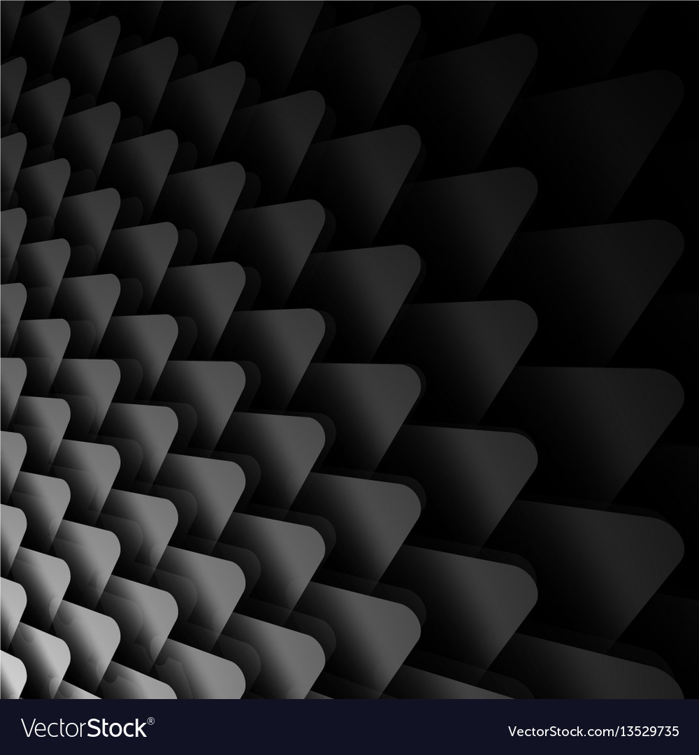 Black and white background with triangles