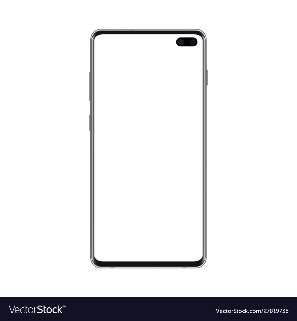 Black smartphone mockup with blank screen cell