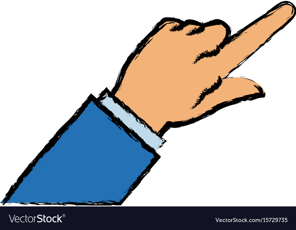 Business man finger point gesture icon