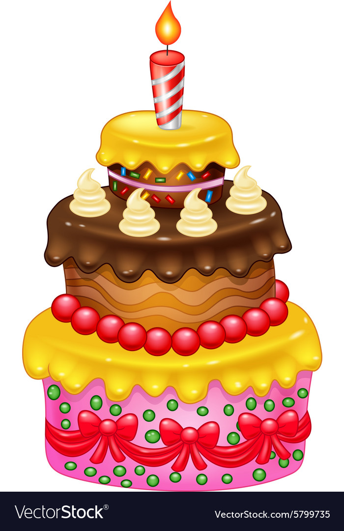 Cartoon Birthday Cake Royalty Free Vector Image
