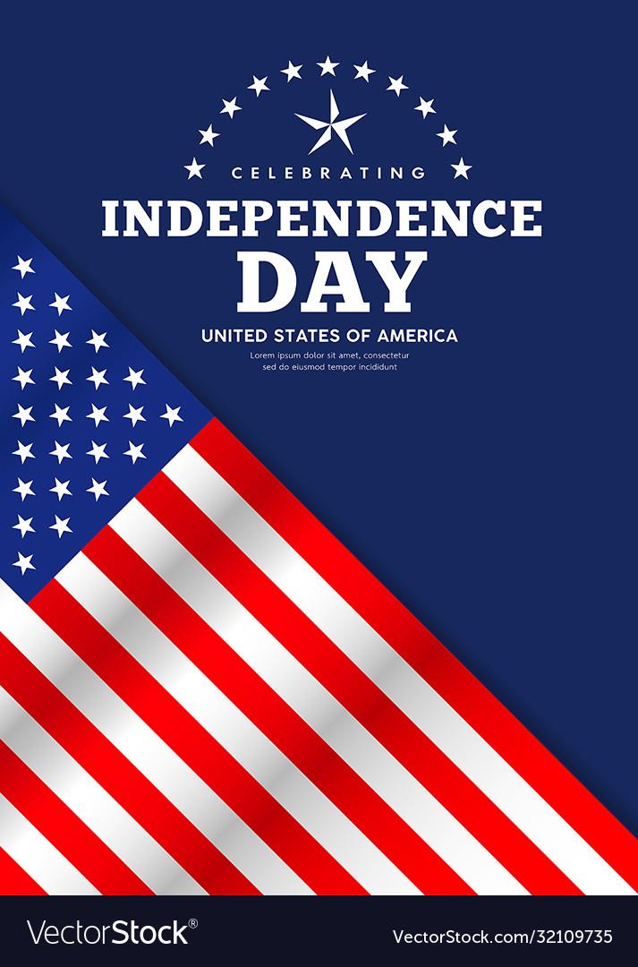 Celebration flag america independence day poster
