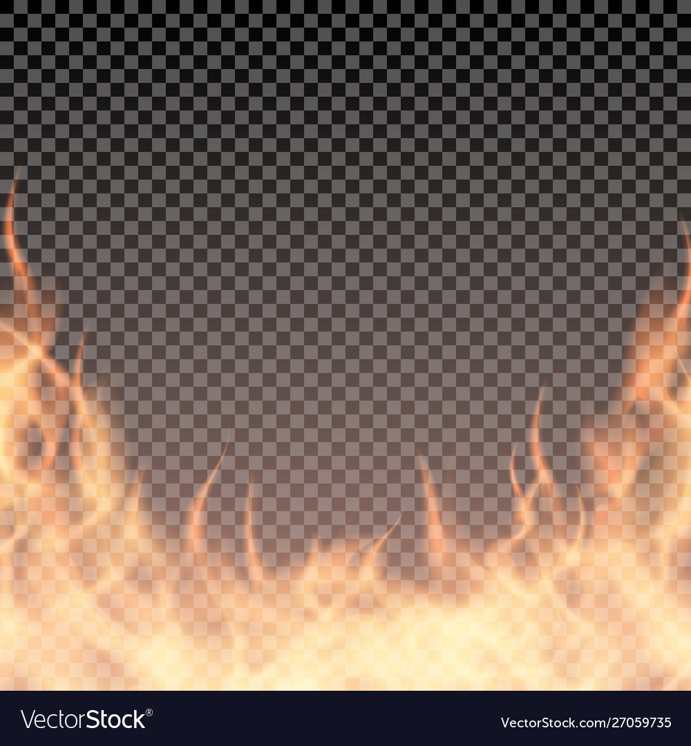 Fire wall burning border template for banner or