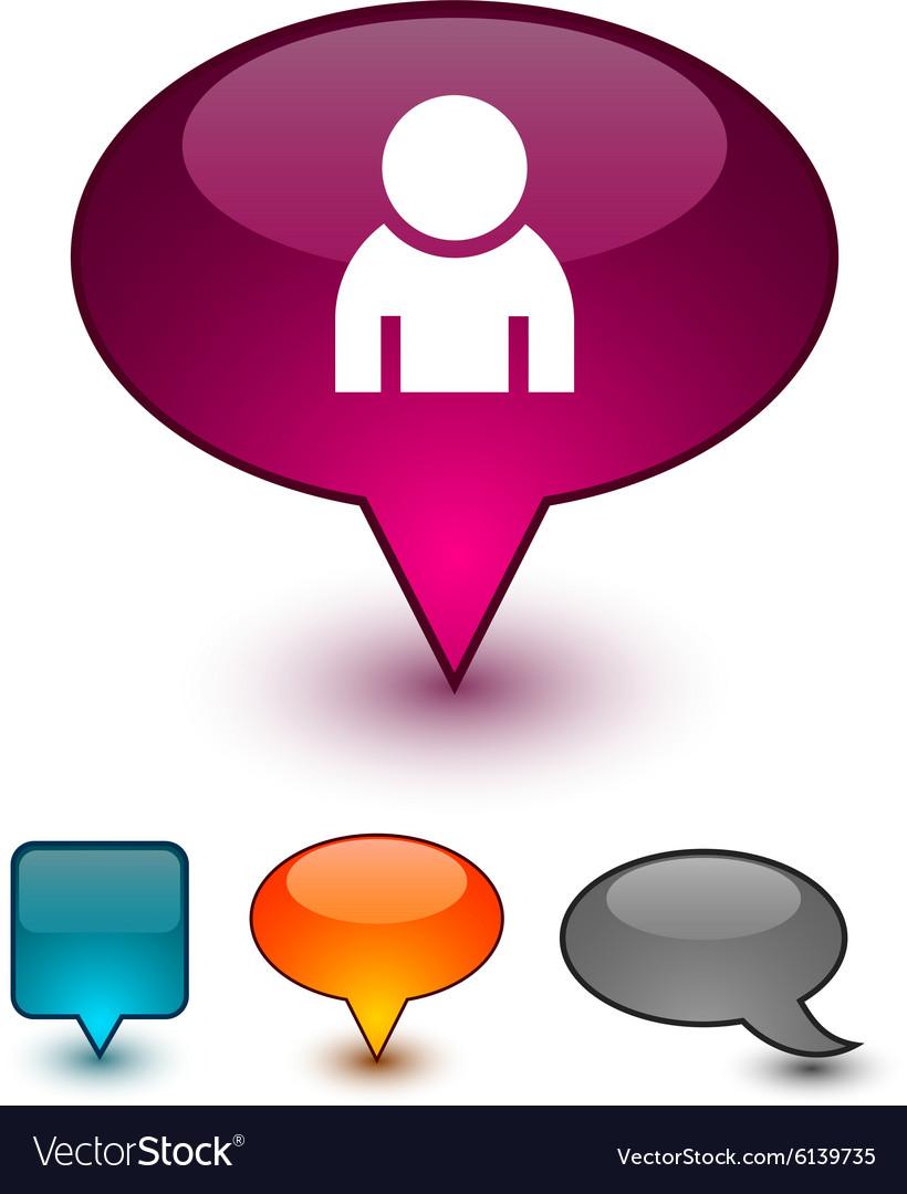 Person speech comic icons