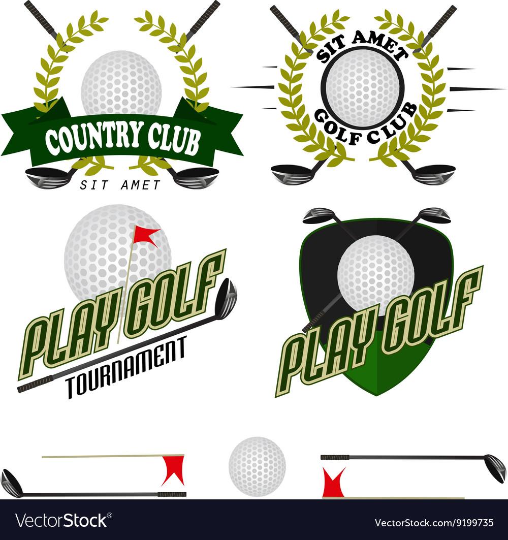 Professional logo of golf club labels and emblems