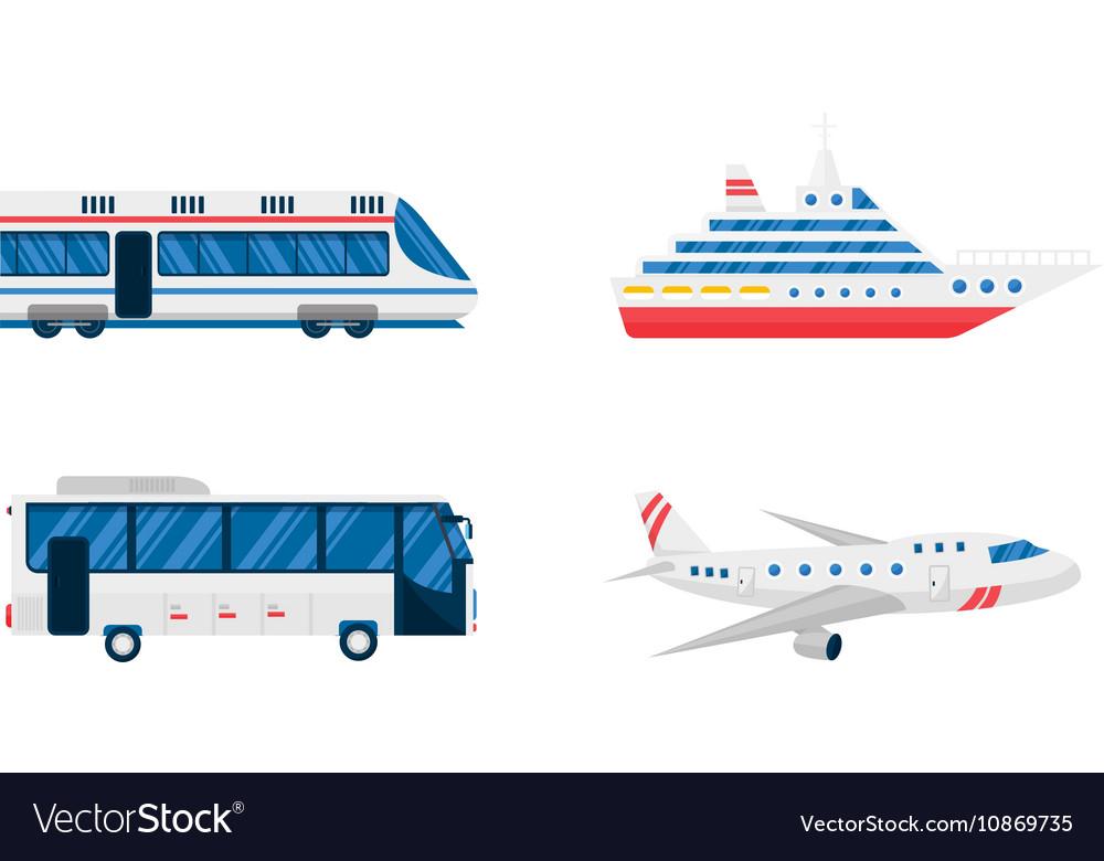 Transport symbols set vector image