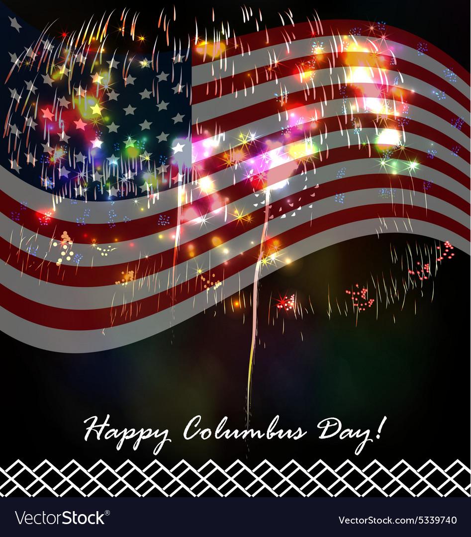 Columbus day celebration design Royalty Free Vector Image