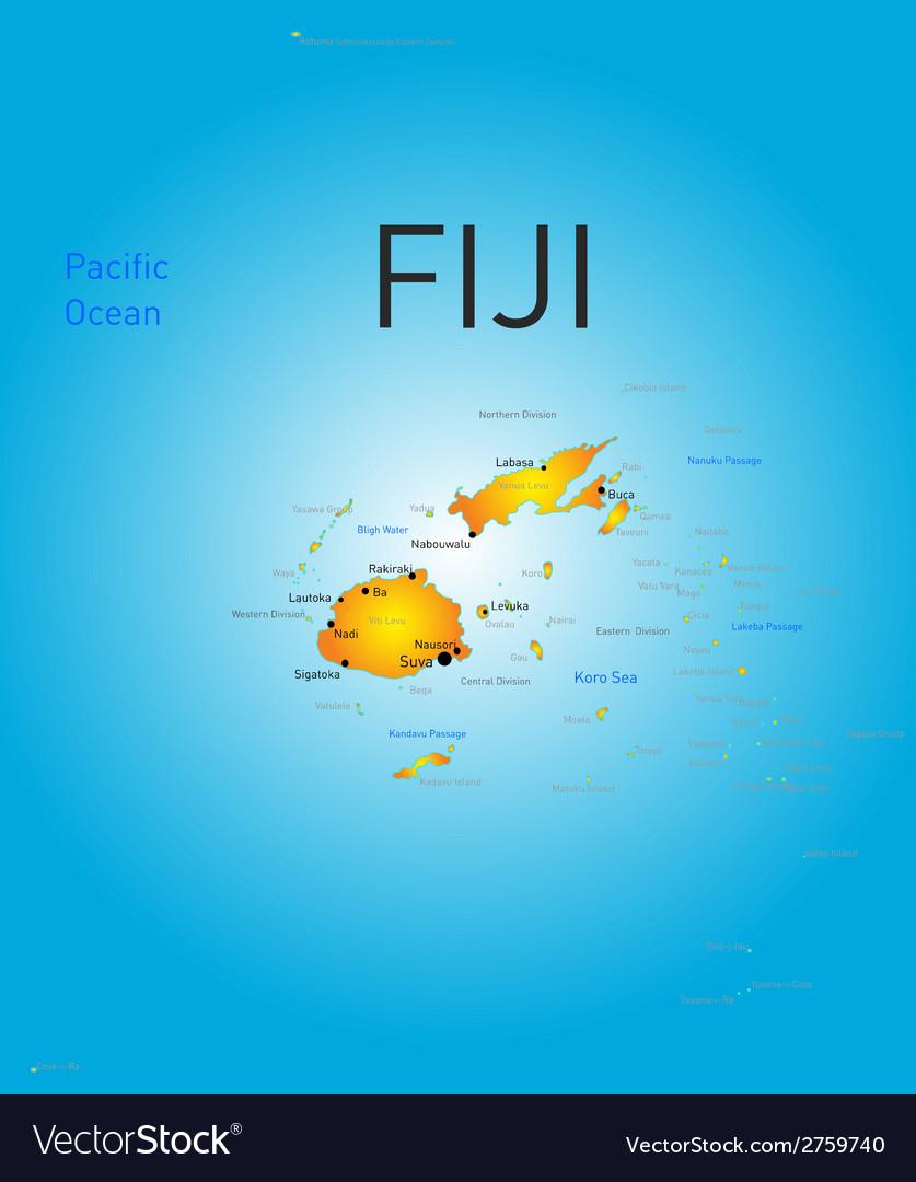 Fiji country Royalty Free Vector Image - VectorStock