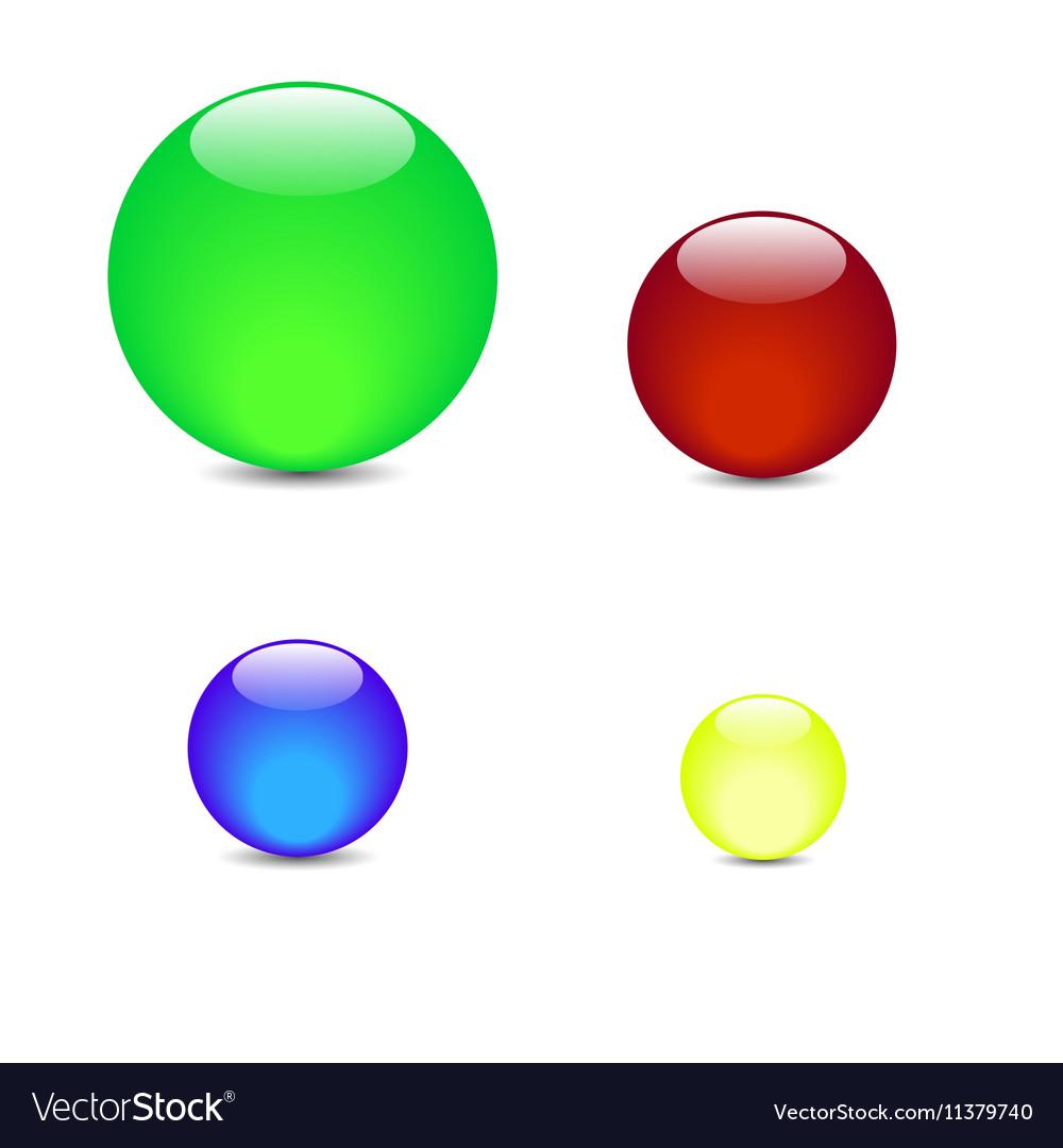 Green blue red yellow balls