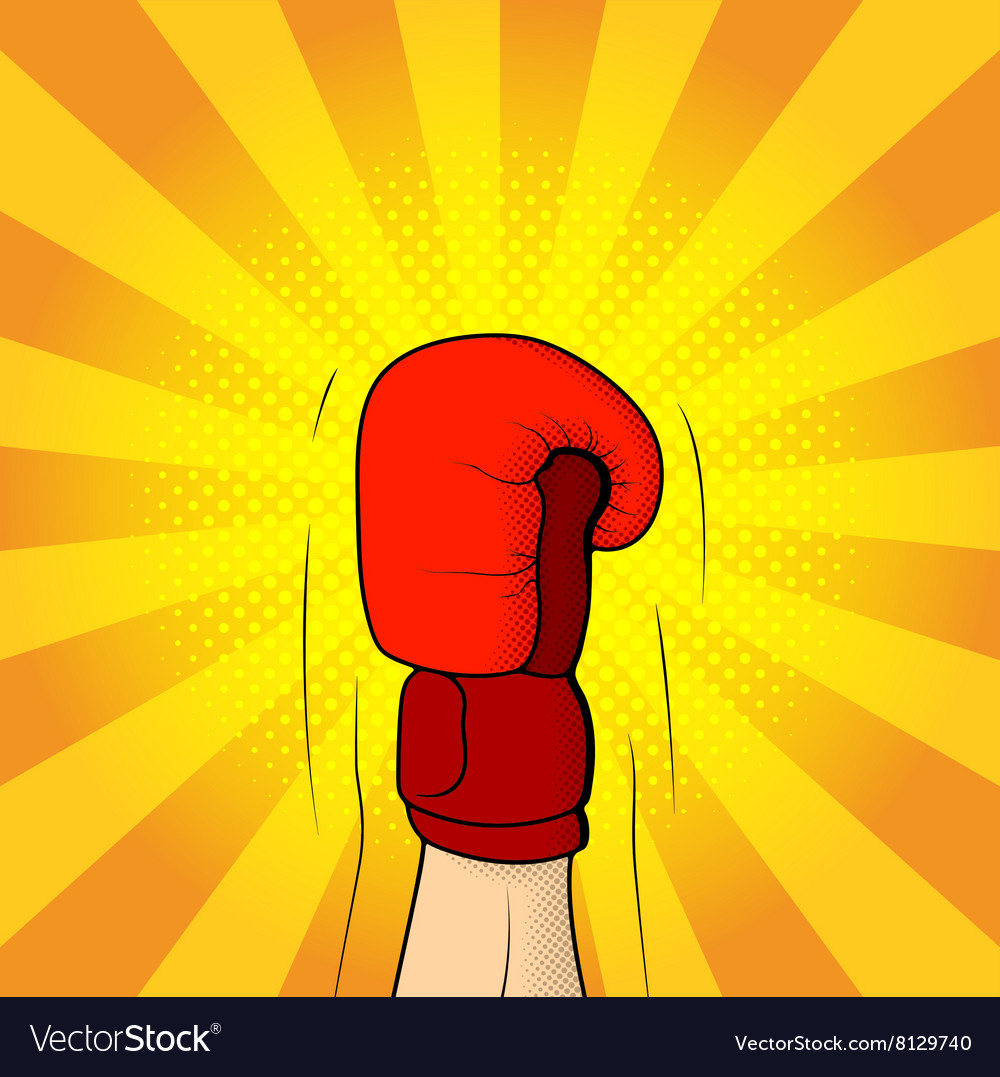 Hand of boxer in boxing glove