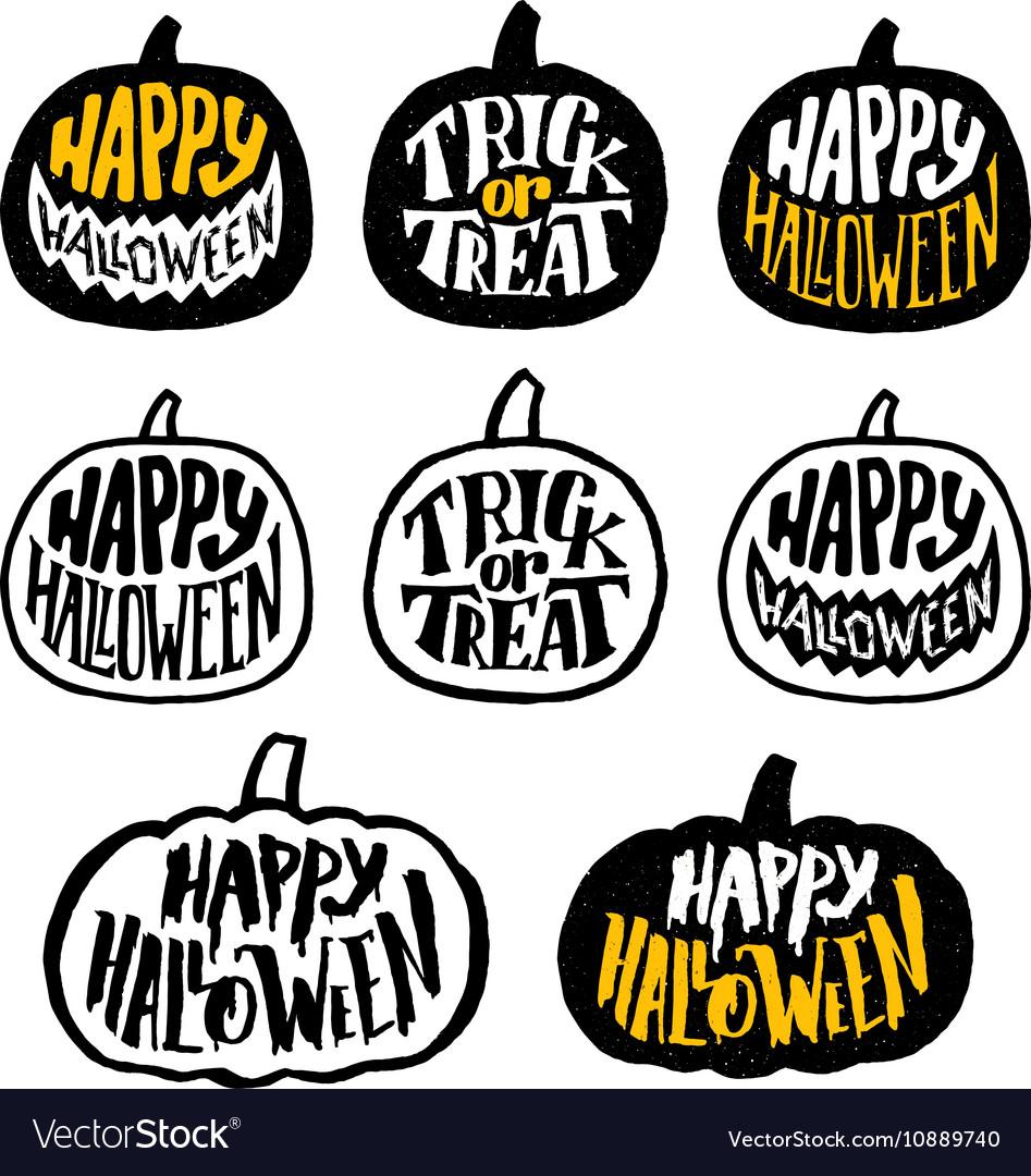 Happy Halloween badges or labels design