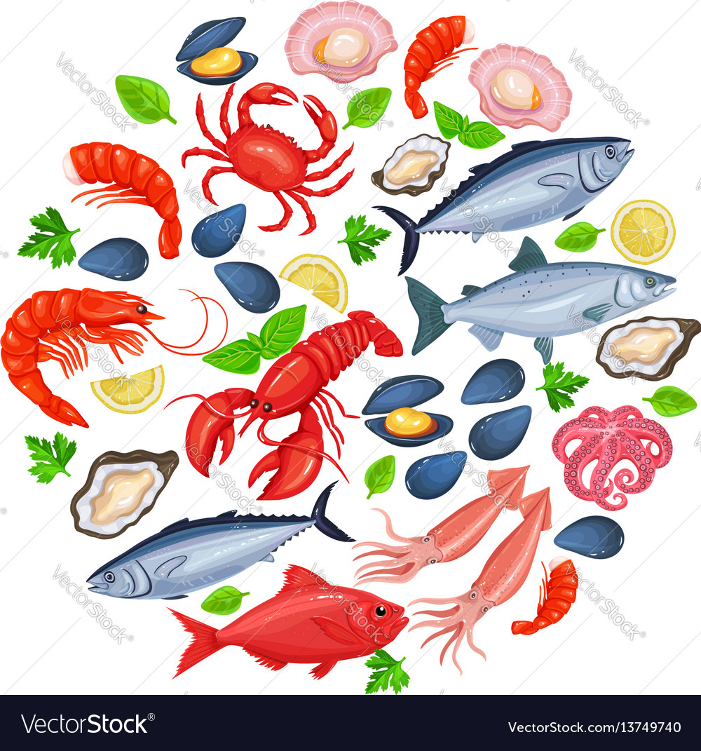 Icons seafood