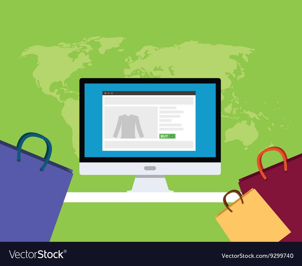 Online e-commerce concept