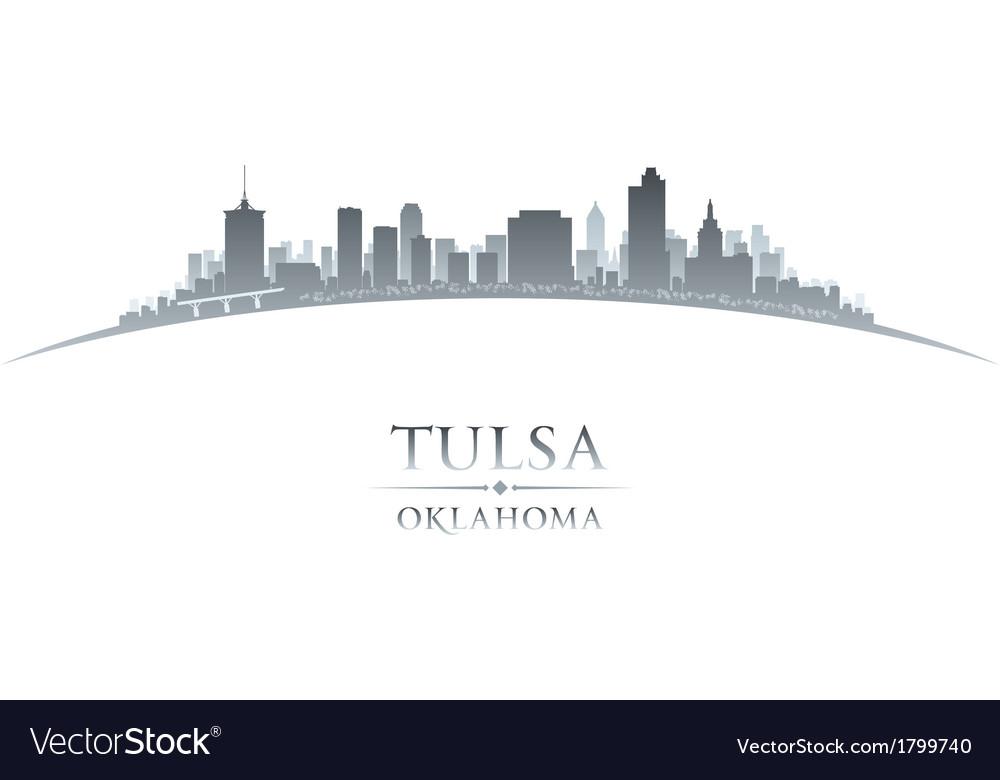 Tulsa Skyline Silhouette SVG Skyline TULSA City Tulsa Oklahoma Usa Tulsa Cut Design Silhouette Vector. Tulsa Cut File Skyline City