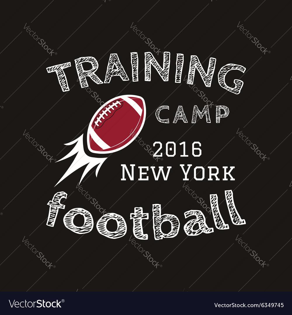 American football training camp logotype emblem