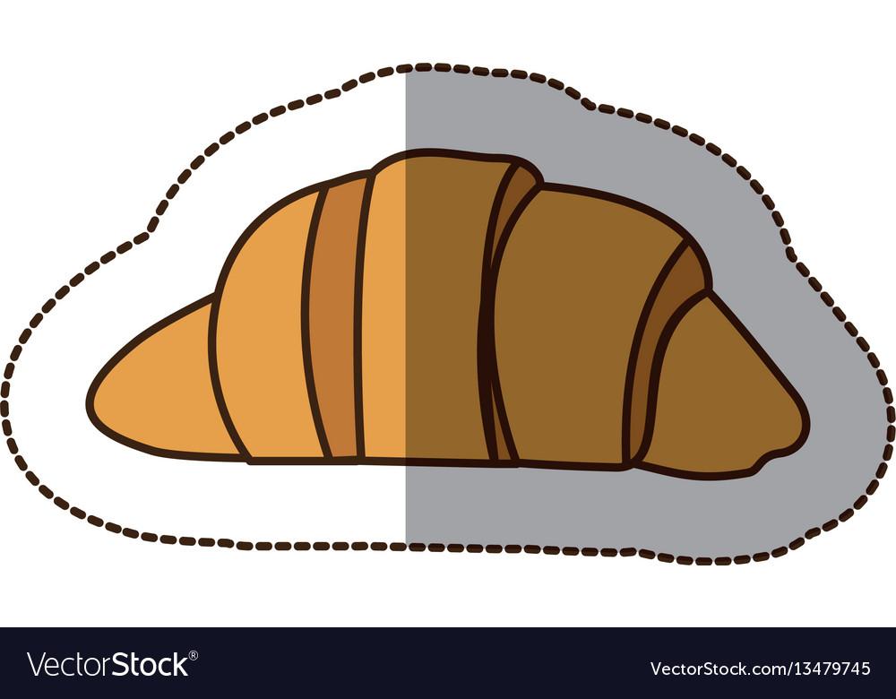 Color croissant bread icon