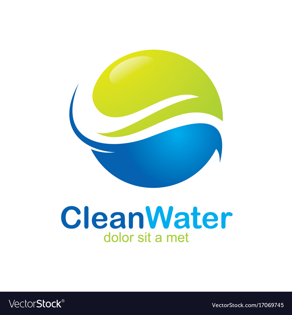 Eco clean water abstract logo