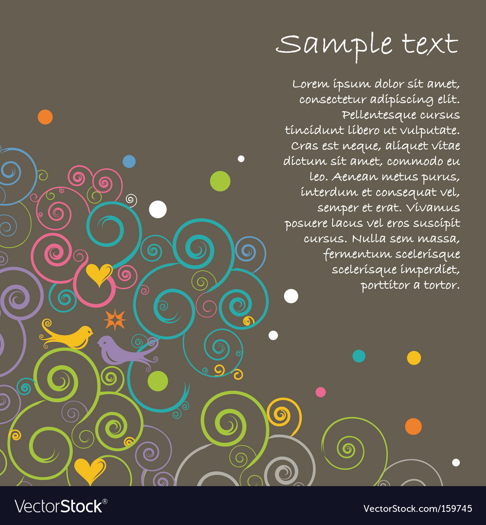 Floral layout vector image
