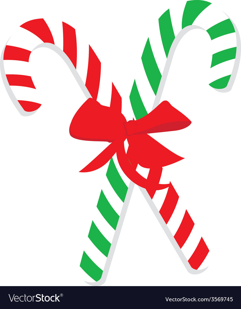 green and red christmas candy cane vector image - Christmas Candy Cane