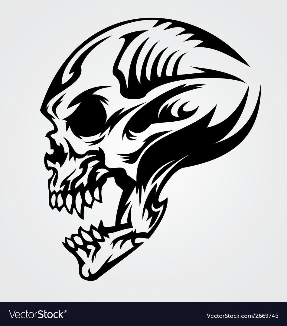 Skull Tattoo Design Royalty Free Vector Image - VectorStock