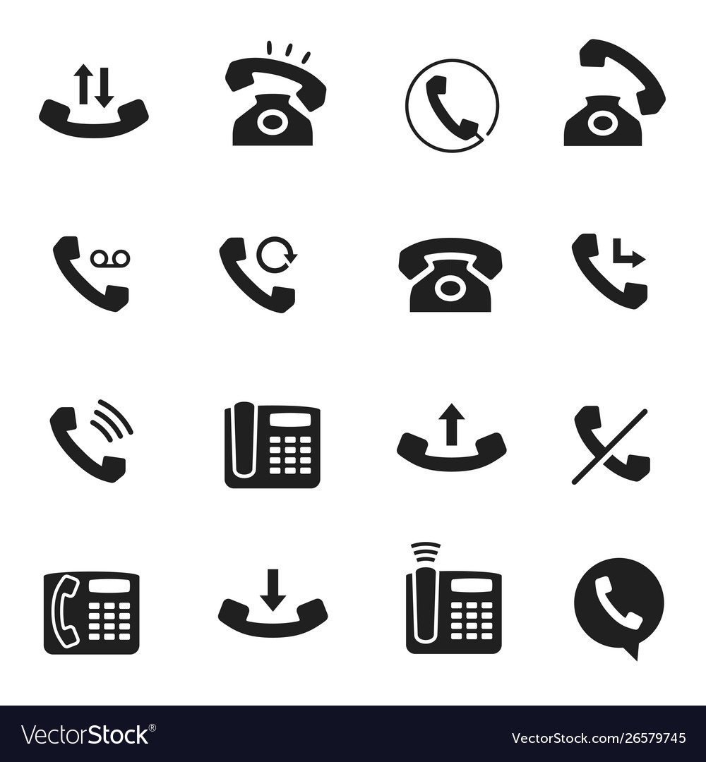 Telephone call icon business technology