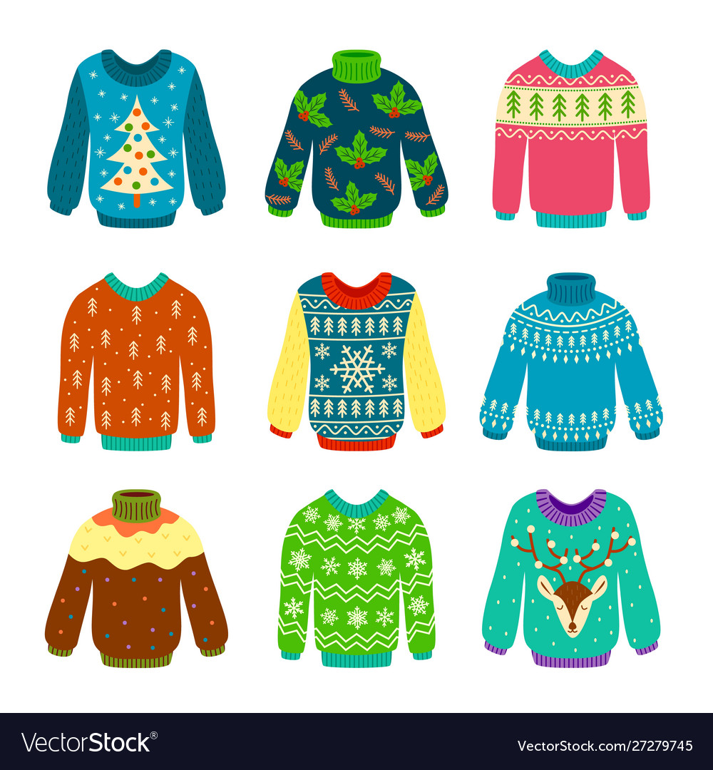 Ugly christmas sweater knitted jumpers with