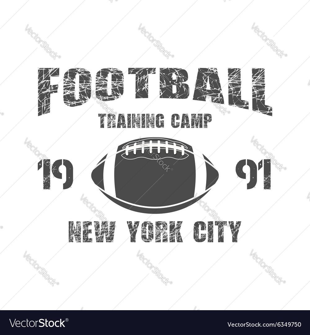 American football New York training camp badge