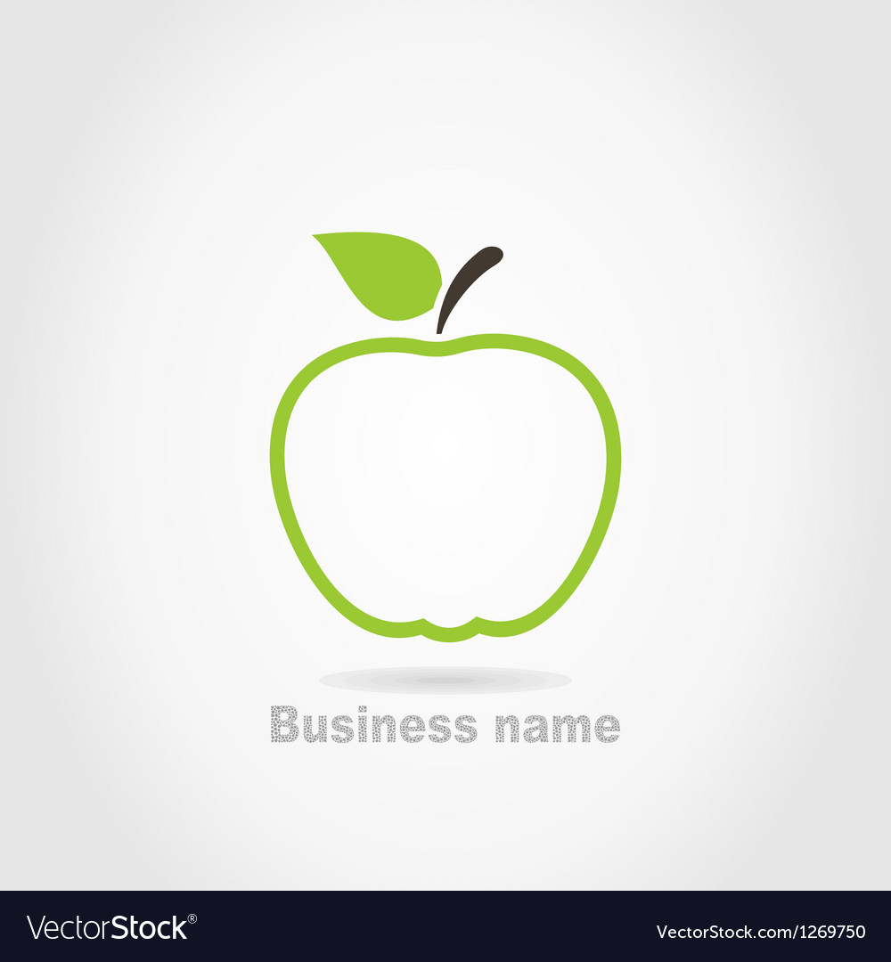 Apple business name background vector image