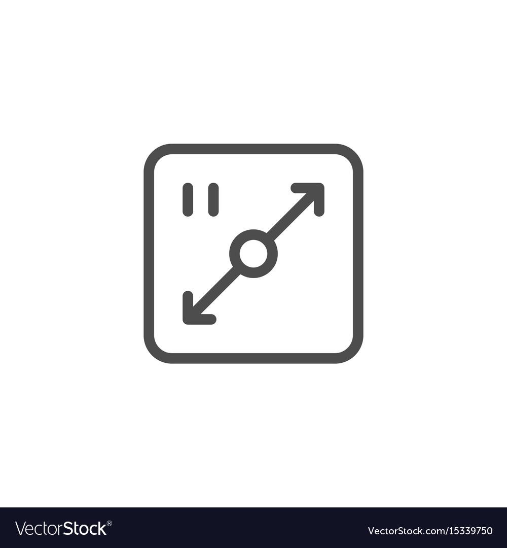 Area line icon vector image