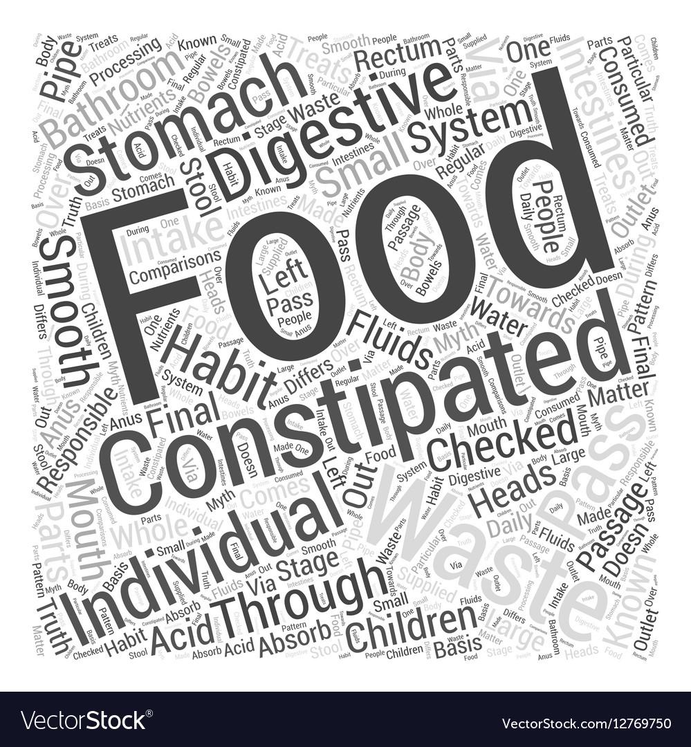 Constipation in Children Word Cloud Concept
