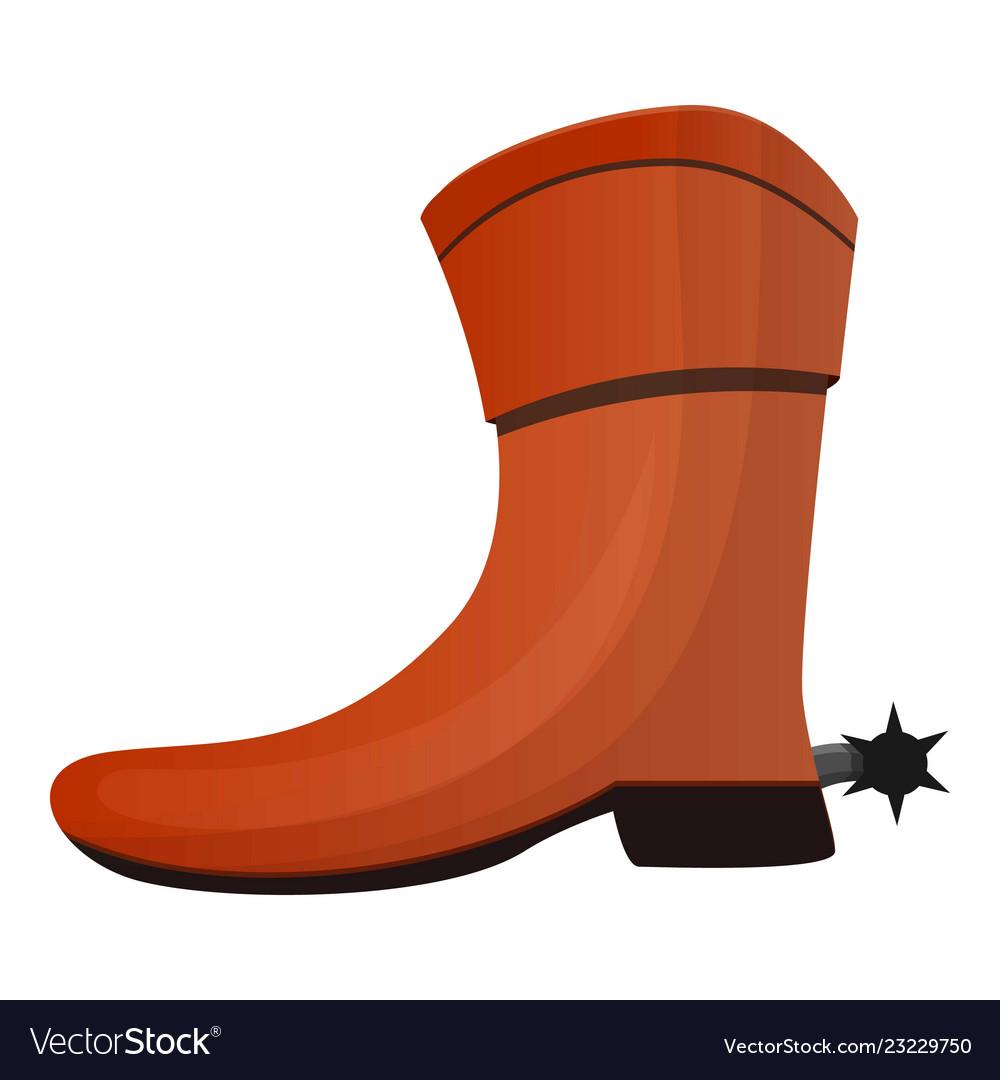 Cowboy boot icon cartoon style