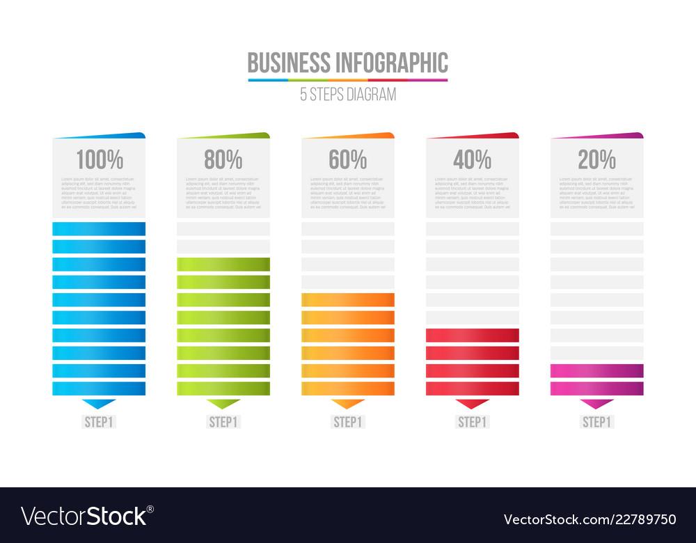Creative Of Columns Bar Chart Royalty Free Vector Image