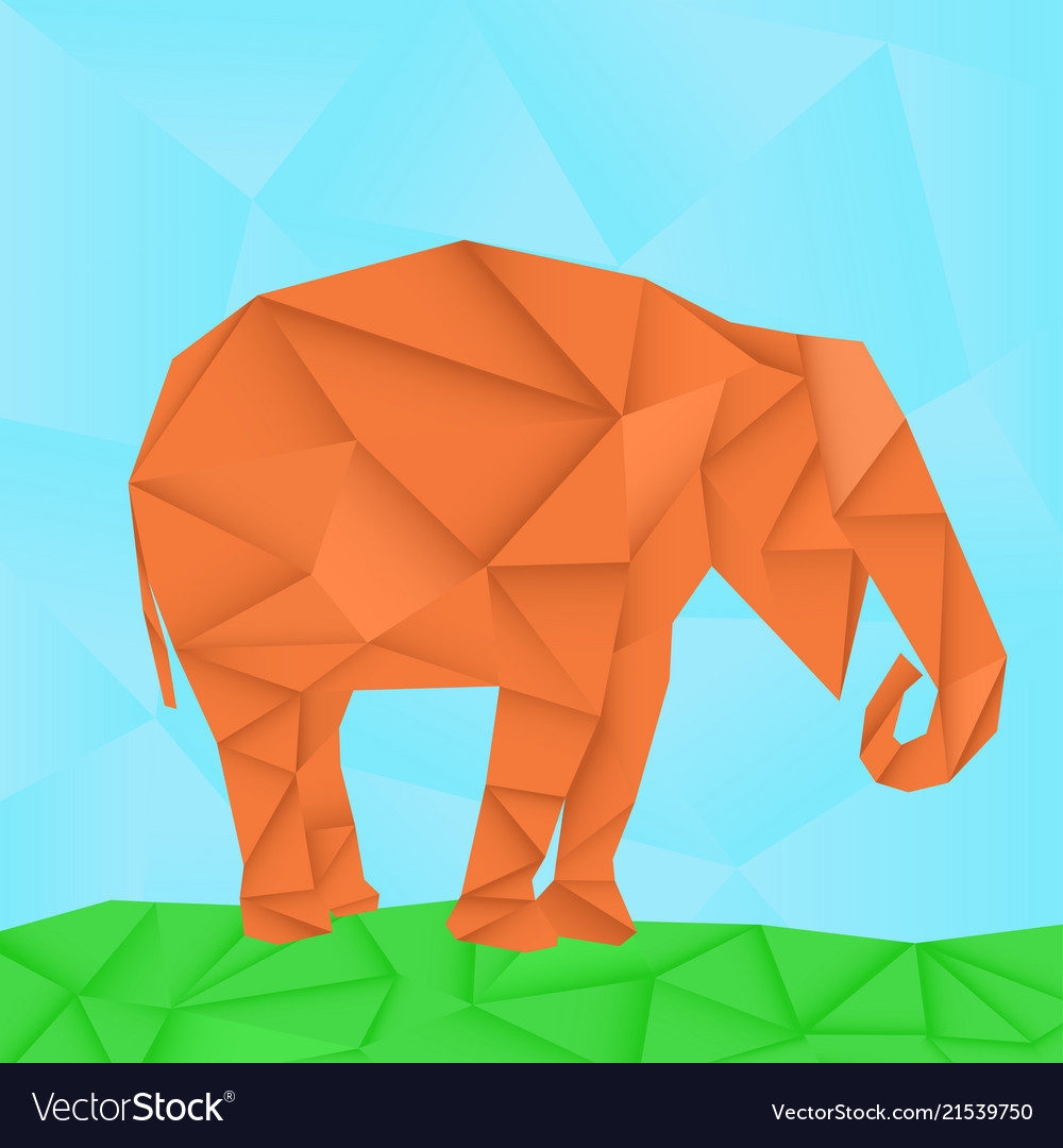 Elephant polygonal origami like