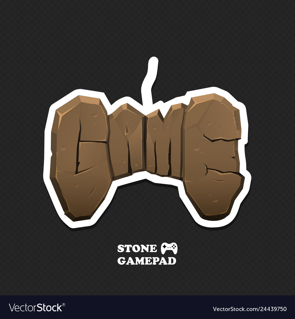 Gaming icon isolated gamepad logo with