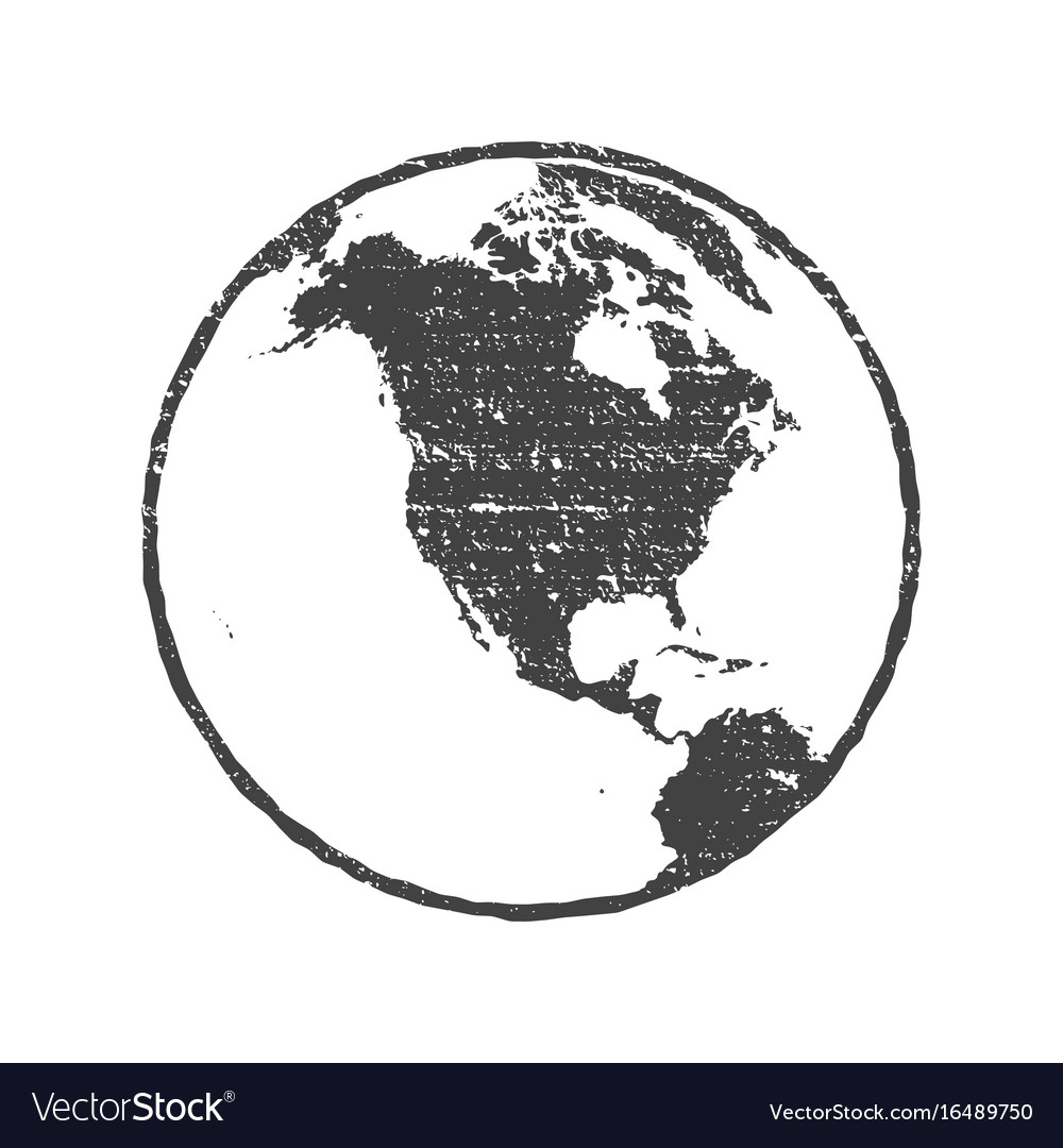 Grunge texture gray world map globe transparent vector image gumiabroncs Image collections