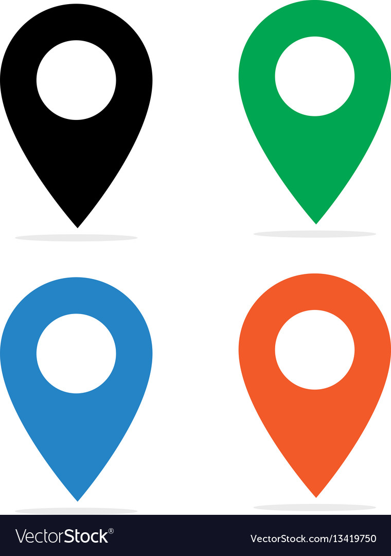 map pin icon royalty free vector image